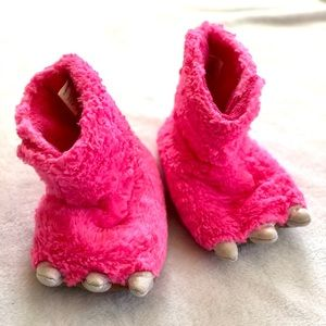 Pink Girls Dinosaur Slippers Shoes 9/10